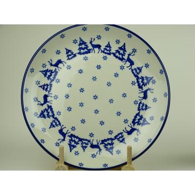 Bunzlau kerst dineerbord 25 cm * 257-1931 *