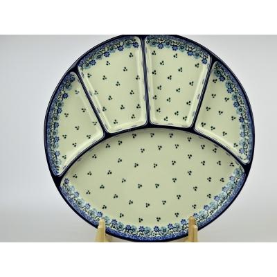 Bunzlau fondue bord 26 cm *498-1982 *