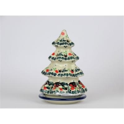 Bunzlau kerstboom/ waxinelichtje 15 cm.* 512-  1257  *