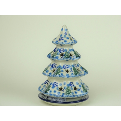 Bunzlau kerstboom/ waxinelichtje 17.5 cm.* 513- 1674 *