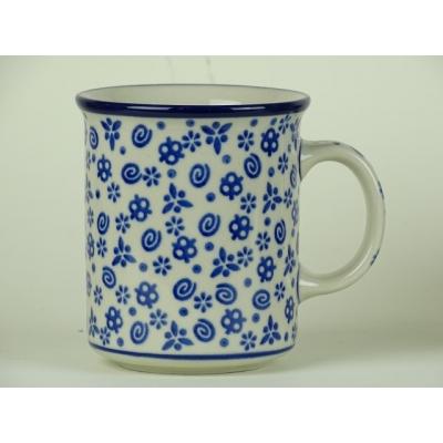 Bunzlau koffie mok 250 ml * 236- blauw/ wit *
