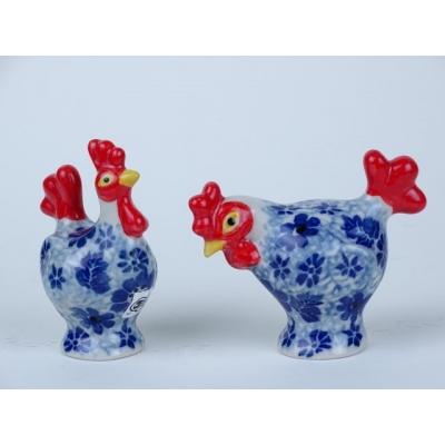 Bunzlau peper & zout stel kippen * D63 & D66-1443 *