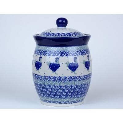 Bunzlau voorraad pot / kruiden pot 17 cm. * 104-2596 *