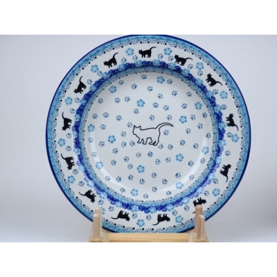Soep bord 23 cm  kat /poes *014-2154*