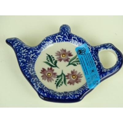 Bunzlau thee zak schoteltje *766 - blauw /paars*
